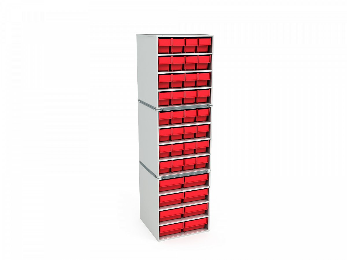 Stationary Modular Storage Counter (3 tier)