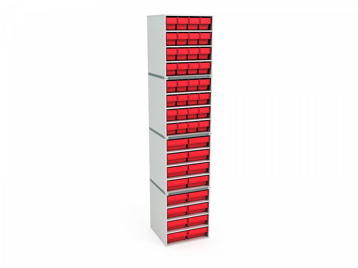 Stationary Modular Storage Counter (4 tier)
