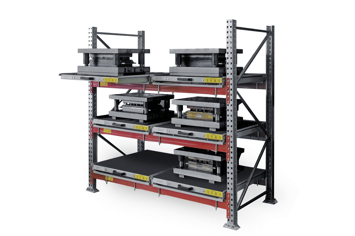 DiKom roll-out shelf rack (2)