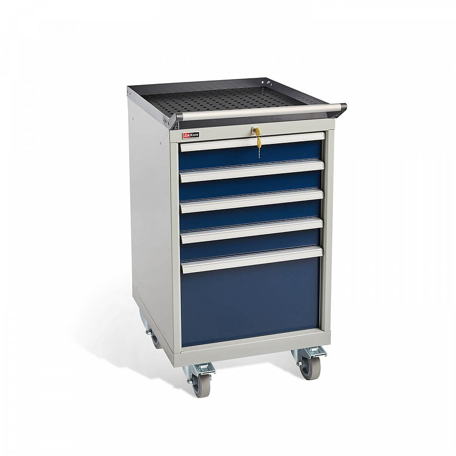 DiKom VS-015 Tool Cabinet with castors, a tray, a tray handle