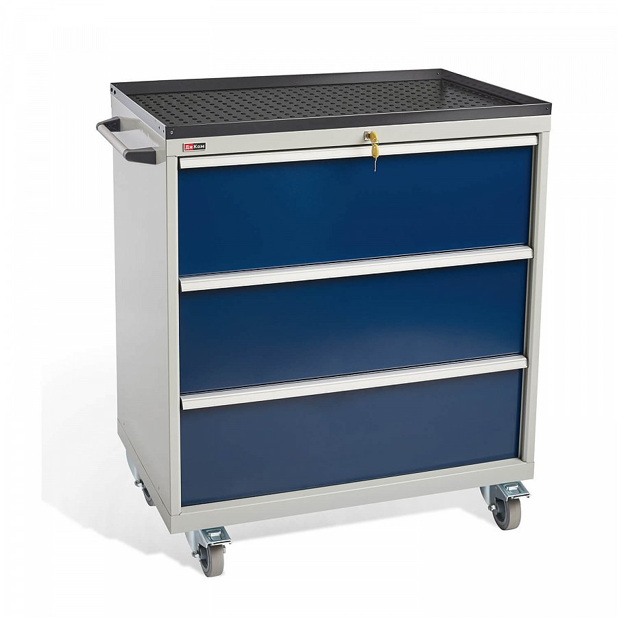 DiKom VS-033 Tool Cabinet with castors, a tray and a side handle
