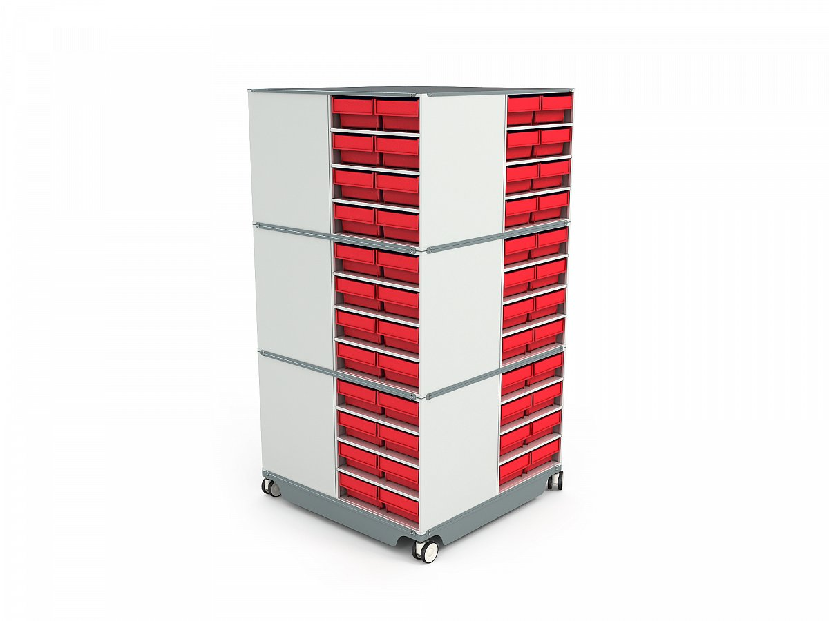 KP-01 Mobile (Swivel) Modular Storage Counter