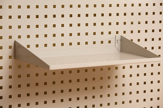 A4 Perforated panel shelf