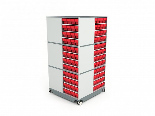 KP-02 Mobile (Swivel) Modular Storage Counter