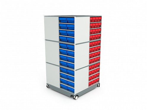 KP-03 Mobile (Swivel) Modular Storage Counter (2)