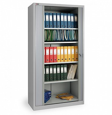 KD-144 office cupboard (4 shelves) with roller shutter doors