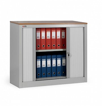 KD-141 office cupboard (1 shelf) with roller shutter doors