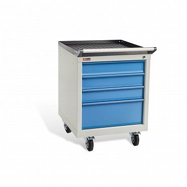 DiKom VS-014 Tool Cabinet with a Tray, Castors, and Tray Handle