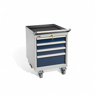 DiKom VS-014 Tool Cabinet with castors, a tray, a tray handle