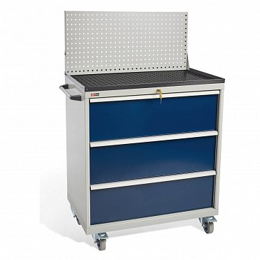 DiKom VS-033 Tool Cabinet with a panel, a tray, castors and a side handle