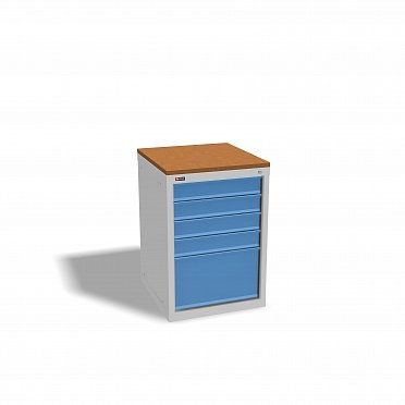 DiKOm VL-015 Tool Cabinet with a Tray, Castors, and Side Handle