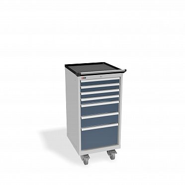 DiKom VS-017 Tool Cabinet with castors, a tray and a side handle