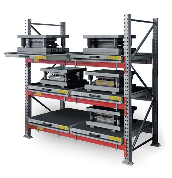 DiKom roll-out shelf rack