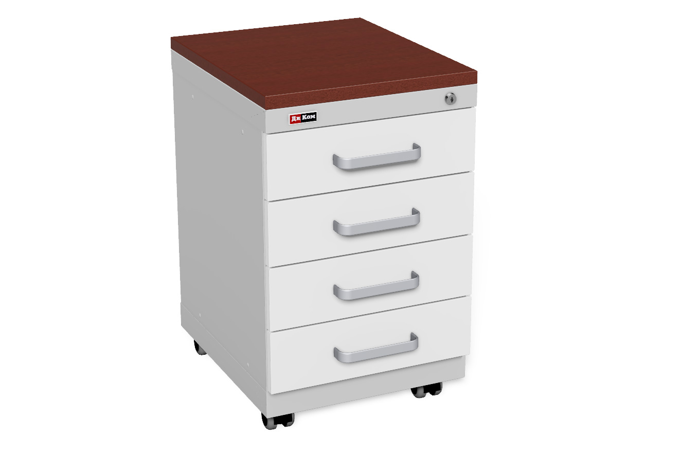 DiKom Office Cabinet with castors (2)