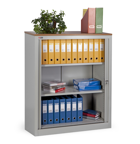 KD-142 office cupboard (2 shelves) with roller shutter doors