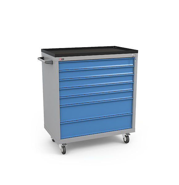 DiKom Drawer Unit VL-037 with Tray, Castors, and Side Handle