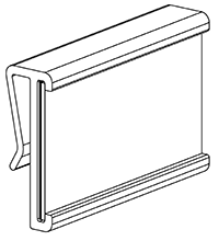 Label holder for partitions, d (10 pcs.)