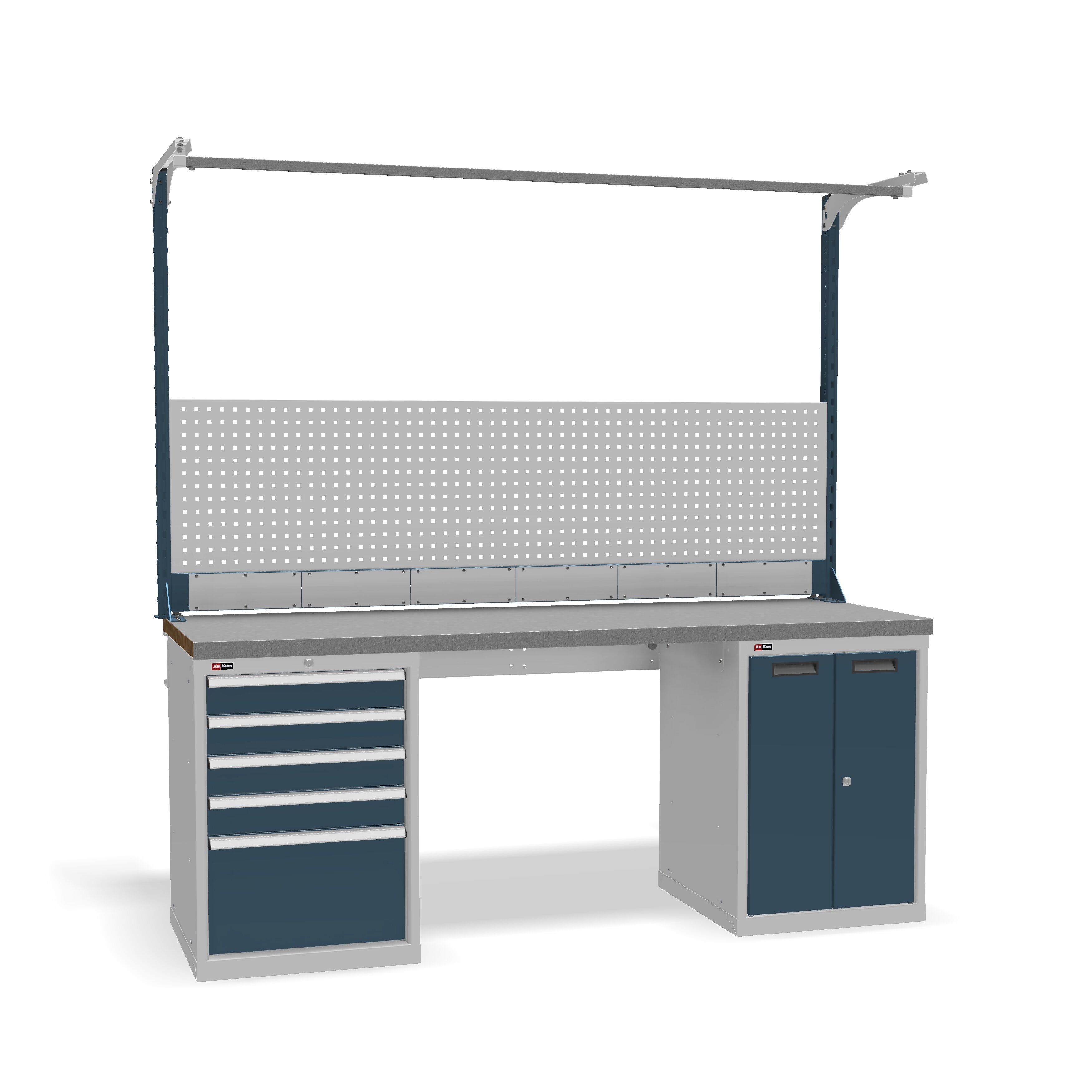 DiKom VS-200-07 Workbench + DiKom Perforated Panel VS-200-E5