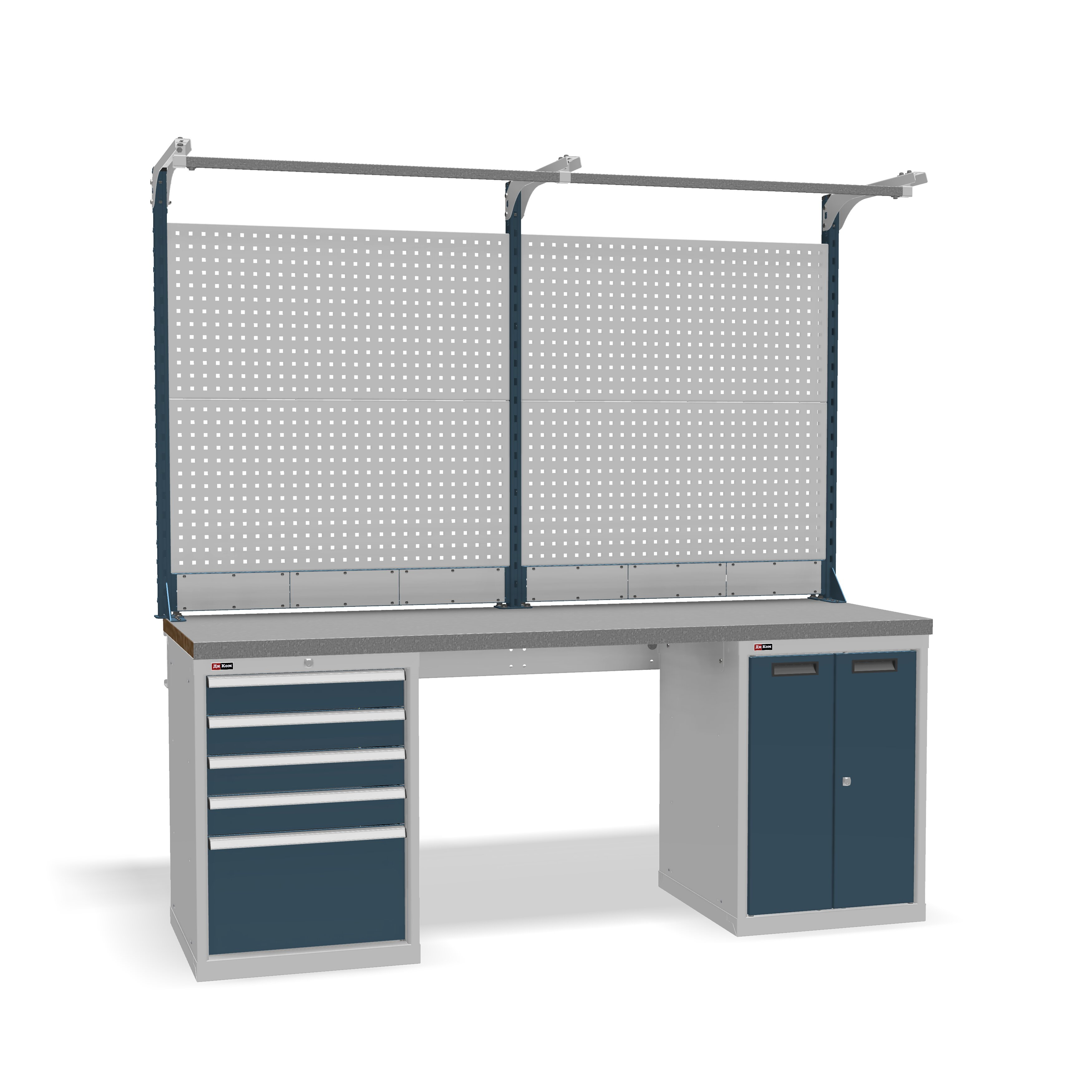 DiKom VS-200-07 Workbench + DiKom Perforated Panel VS-200-E3