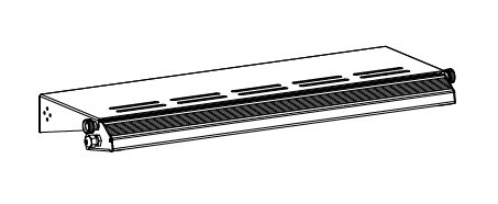LED 700 Lighting bracket for the perforated panel