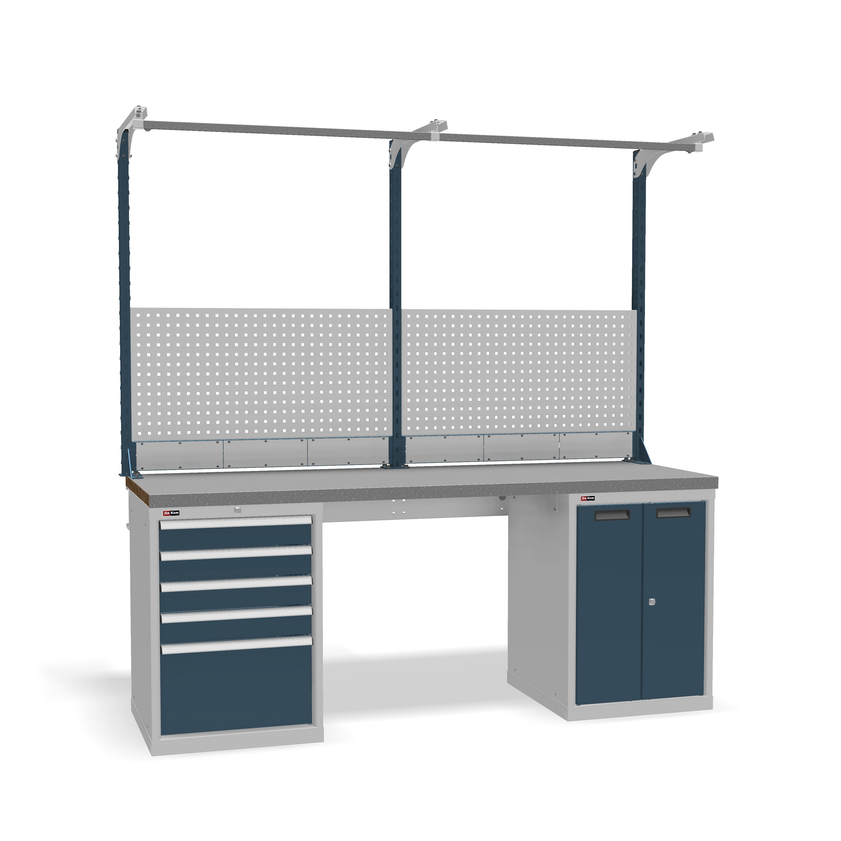 DiKom VS-200-07 Workbench + DiKom Perforated Panel VS-200-E2