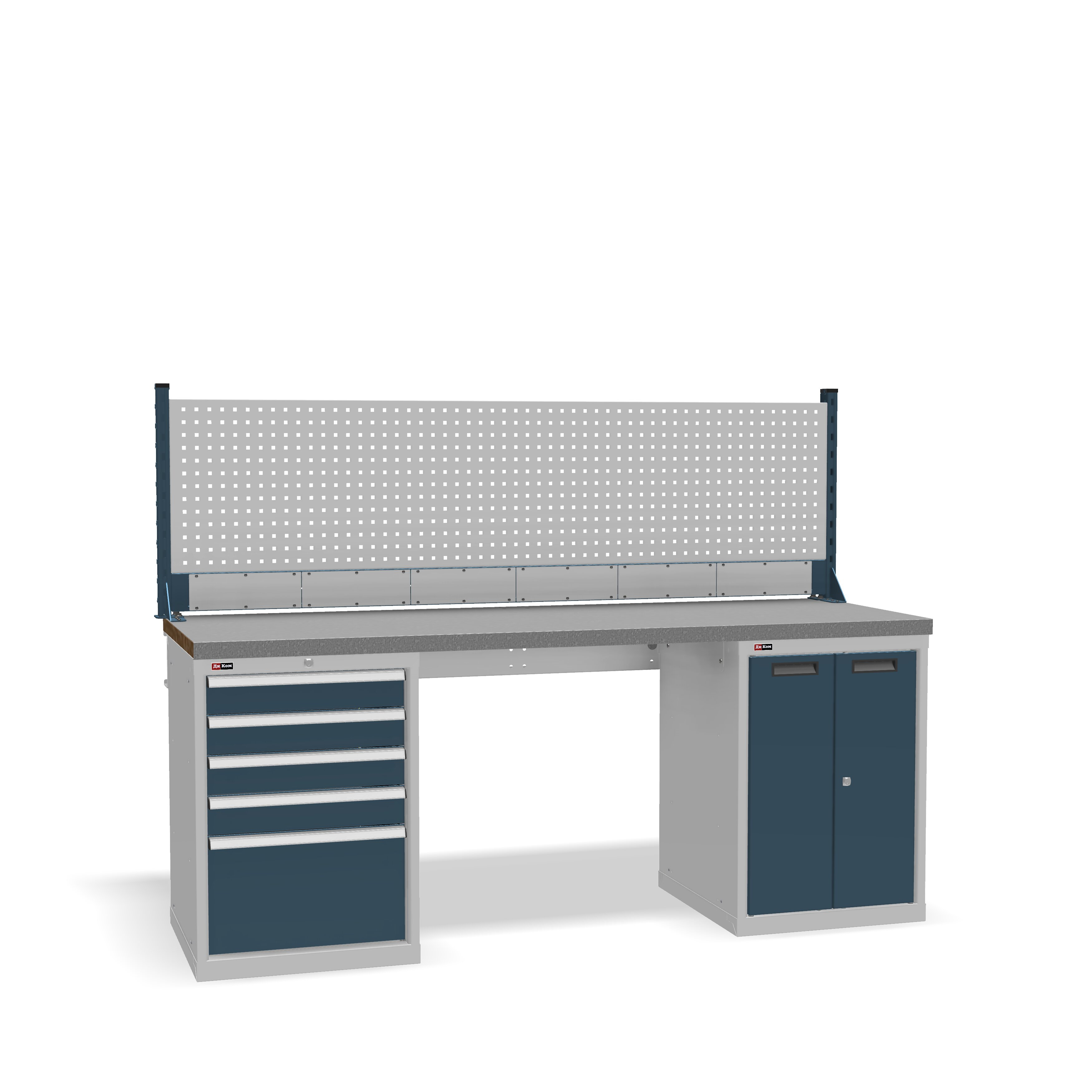 DiKom VS-200-07 Workbench + DiKom Perforated Panel VS-200-E4