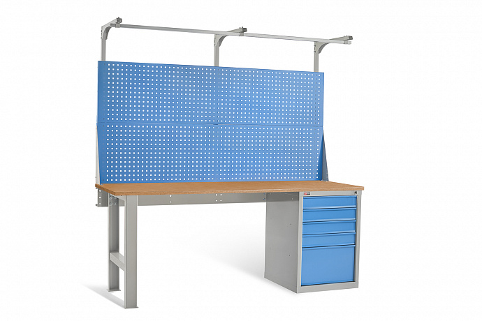 DiKom VL-200-04 Workbench + DiKom Perforated Panel VL-200-E3