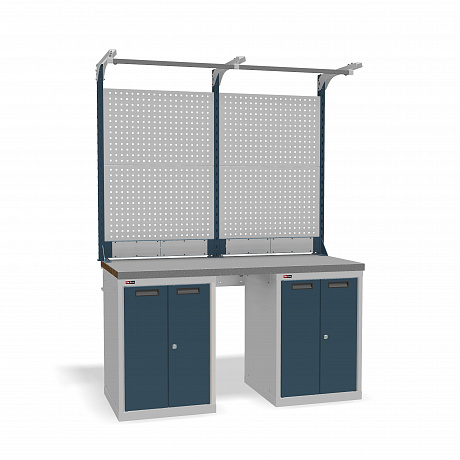 DiKom VS-150-08 Workbench + DiKom Perforated Panel VS-150-E3