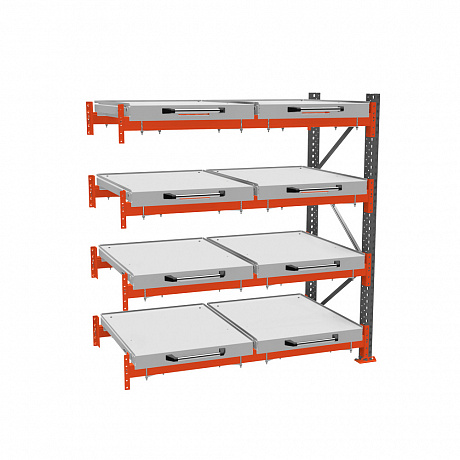 Additional roll-out shelf rack (4-tier)