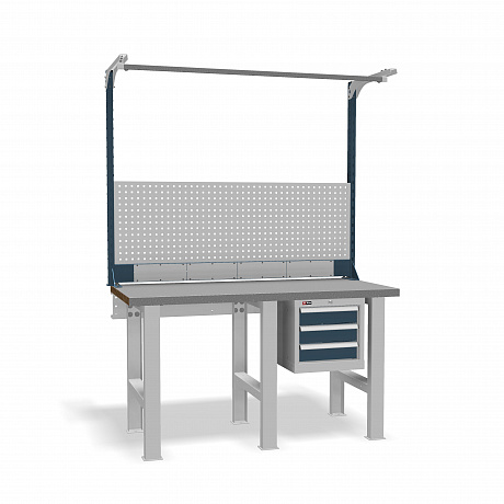 DiKom VS-150-02 Workbench + DiKom Perforated Panel VS-150-E5