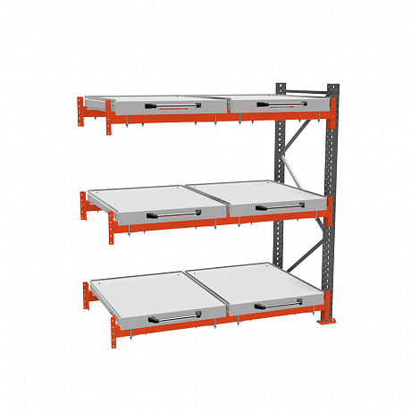 Additional roll-out shelf rack (3-tier)