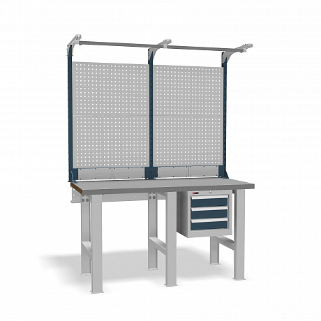DiKom VS-150-02 Workbench + DiKom Perforated Panel VS-150-E3