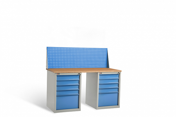 DiKom VL-150-09 Workbench + DiKom Perforated Panel VL-150-E1