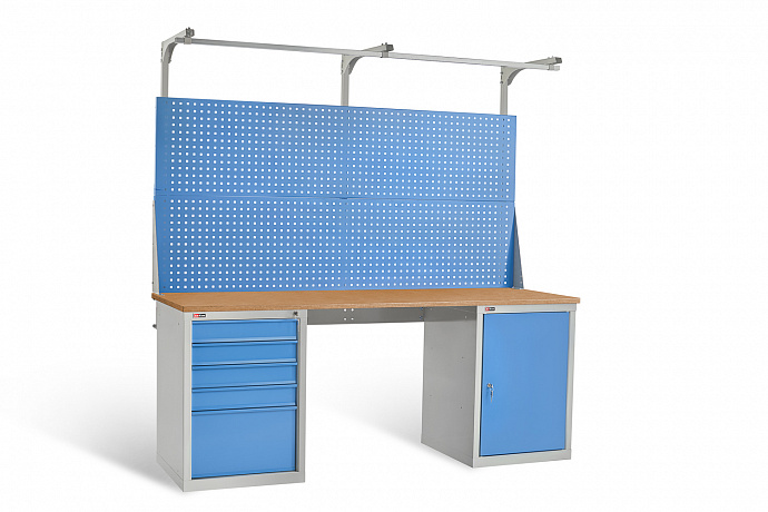 DiKom VL-200-07 Workbench + DiKom Perforated Panel VL-200-E3