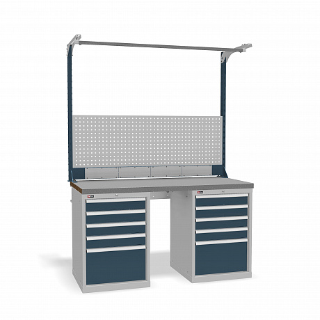 DiKom VS-150-09 Workbench + DiKom Perforated Panel VS-150-E5