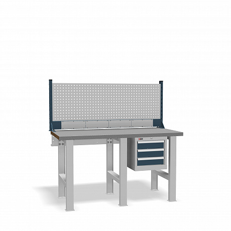 DiKom VS-150-02 Workbench + DiKom Perforated Panel VS-150-E4
