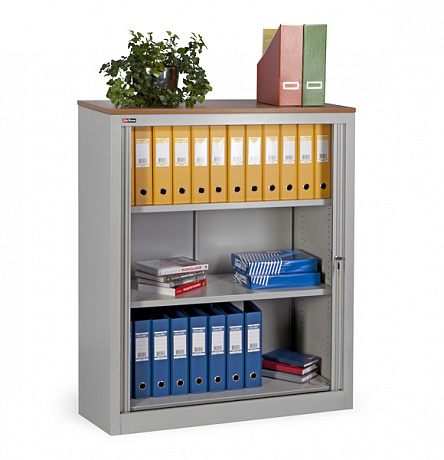 KD-142 office cupboard (2 shelves) with «Beech» tabletop