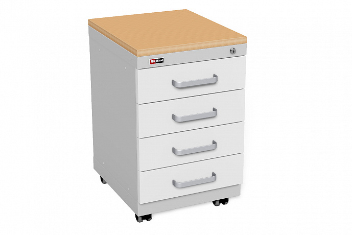 Office cabinet with castors and 3 drawers
