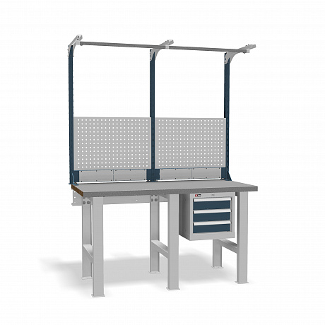 DiKom VS-150-02 Workbench + DiKom Perforated Panel VS-150-E2