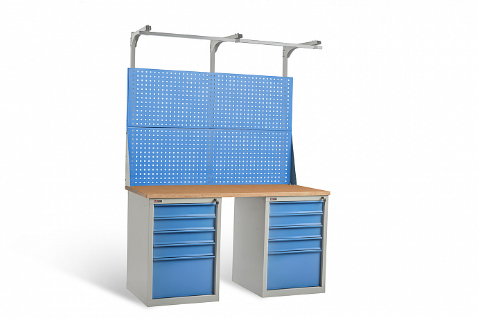 DiKom VL-150-09 Workbench + DiKom Perforated Panel VL-150-E3
