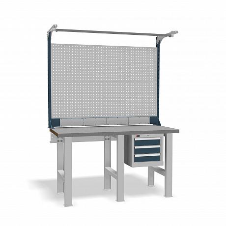 DiKom VS-150-02 Workbench + DiKom Perforated Panel VS-150-E6