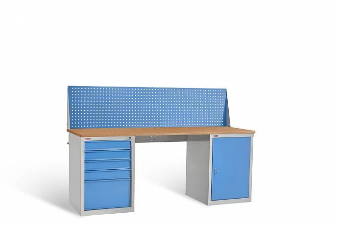 DiKom VL-200-07 Workbench + DiKom Perforated Panel VL-200-E1
