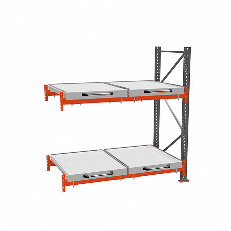 Additional roll-out shelf rack (2-tier)