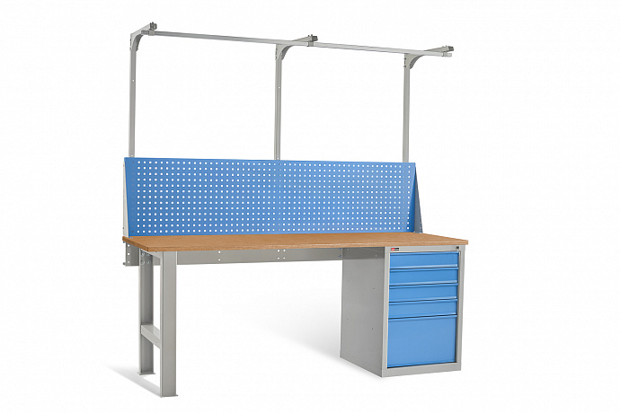 DiKom VL-200-04 Workbench + DiKom Perforated Panel VL-200-E2
