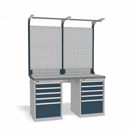 DiKom VS-150-09 Workbench + DiKom Perforated Panel VS-150-E3