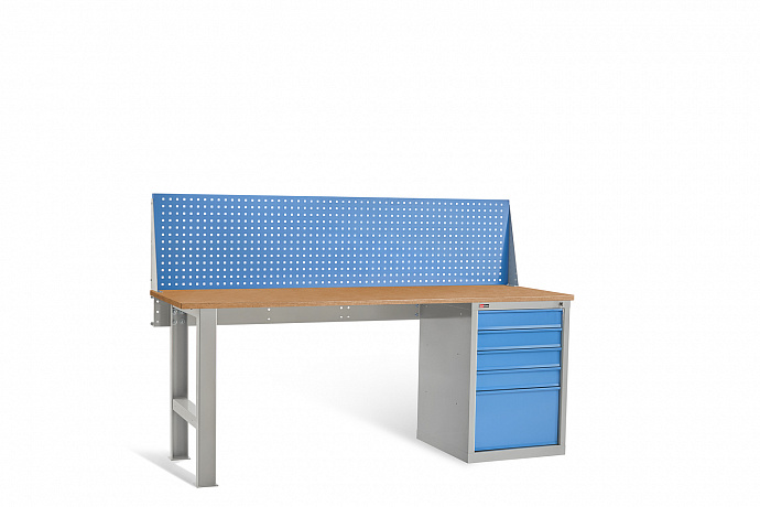 DiKom VL-200-04 Workbench + DiKom Perforated Panel VL-200-E1