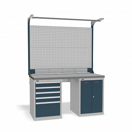 DiKom VS-150-07 Workbench + DiKom Perforated Panel VS-150-E6