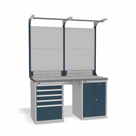 DiKom VS-150-07 Workbench + DiKom Perforated Panel VS-150-E3