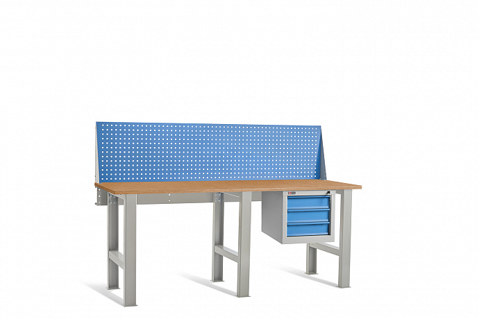 DiKom VL-200-02 Workbench + DiKom Perforated Panel VL-200-E1